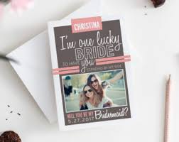 cards to ask bridesmaids asking bridesmaid etsy