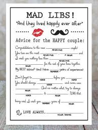 wedding well wishes cards adorable wedding and bridal shower mad libs n l notes