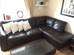 L Shaped Sofa by Brown Leather L Shaped Sofa In Timperley Manchester Gumtree