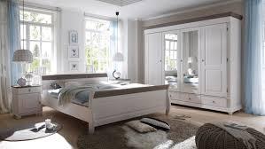 schlafzimmer set weiss set oslo in kiefer massiv weiß und lava