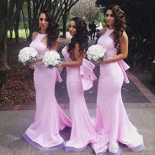 pink bridesmaid dresses pink mermaid bridesmaid dresses 2017 open back satin