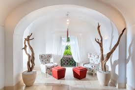 dining room lovely potted driftwood home décor with archway and