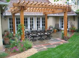 Backyard Trellis Ideas Pergolas Work Brilliantly In Relatively Small Backyards As Well