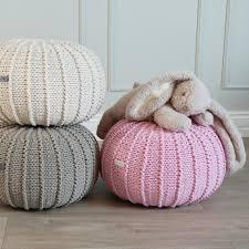 sitzkissen kinderzimmer rosa puff osmanischen gestrickt puff puff kinderzimmerdekor