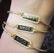 personalized bangle personalized rectangle closed bangle jaimie geller jewelry