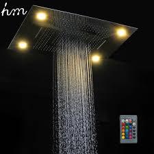 2017 hm multi function led light shower 600 800mm ceiling