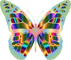 clipart iridescent monarch butterfly 17
