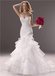fit and flare wedding dress fit and flare layered organza wedding dress with ruffles