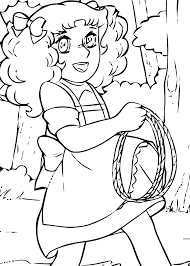 candy candy lasso anime coloring pages for kids printable free