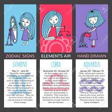 zodiac cards zodiac signs and their characteristics the set of three cards
