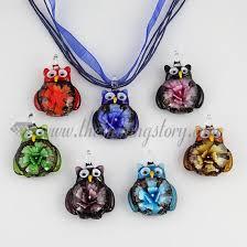 owl necklace pendants images Owl flower lampwork murano glass necklace pendant jewellery wholesale jpg