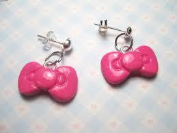 hello earrings hello bow earrings by jennyloveskawaii on deviantart