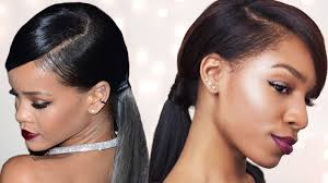 rihanna inspired swoop ponytail for short with betterlength