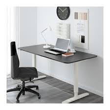 motorized sit stand desk bekant desk sit stand black brown white ikea