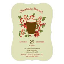 christmas brunch invitations announcements zazzle