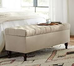bedroom storage benches bedroom benches end of bed seating pottery barn
