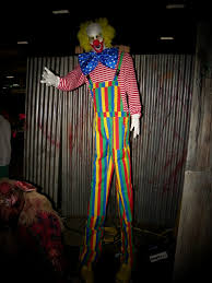 clown stilts stilt clown creepy collection haunted house props