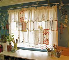 shabby chic curtains pretty shabby chic curtain made from hankys