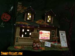 lemax halloween houses review u2013 department 56 halloween party house u2013 spookyvillages com