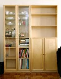 Bookcase With Doors White Ikea Billy Bookcases With Height Extension Units