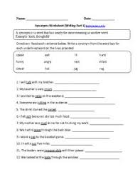 circling synonyms and antonyms worksheet part 1 beginner