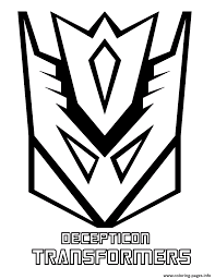 transformers decepticon coloring pages printable