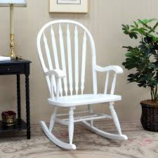 White Rocking Chair Outdoor by Hudson Bow Back Rocking Chair Hayneedle
