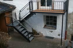 treppe auãÿen aussen treppe aus stahl bauunternehmen
