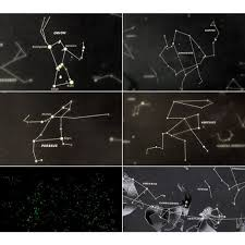 Map Of Constellations Amazon Com Queenfashion Star Map Glow In The Darkness Night Sky