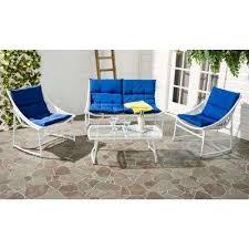 Wicker Patio Furniture White Patio Conversation Sets Outdoor - White wicker outdoor furniture