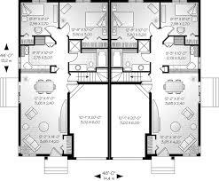 Duplex With Garage Plans Alexandria Place Duplex Home Plan 032d 0045 House Plans And More