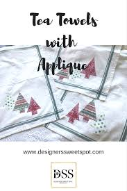 tea towels with christmas appliqué designers sweet spot