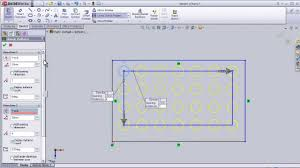 solidworks linear pattern 13 solidworks sketch tutorial linear sketch pattern youtube