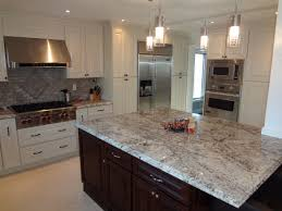 kitchen room newfoundland white beadboard island with grey tile
