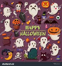 vintage halloween poster design set ghost stock vector 320897426