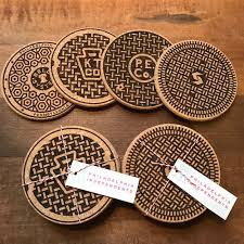 cork coasters philly manhole cover cork coasters philadelphia independents