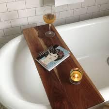 Wood Bathtub Caddy Tub Caddy Walnut Wood Bathtub Tray From Kennedywoodworking On