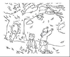 autumn coloring pages for preschoolers squirrel crayola leaves