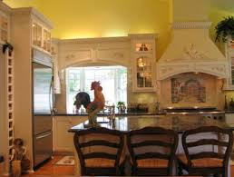 French Country Kitchen Chairs Traditional French Kitchen Influenced With Roster Details Yellow