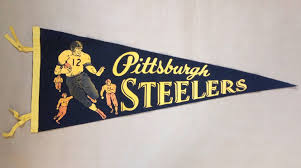 Banners Flags Pennants Rare Pittsburgh Steelers Vintage Football Pennant Full Size 30