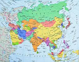 map of aisa asie map asia map and satellite image travel maps and major