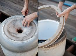 Making Fire Pit From Washer Tub - how to turn a washing machine drum into a fire pit