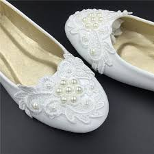 wedding shoes size 11 ivory white vintage lace wedding shoes pearls bridal ballet shoes