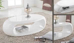 oval gloss coffee table white 17456