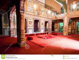 interior design of mansion room in rajasthan editorial stock image