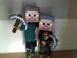 Minecraft Costume Halloween Making Minecraft Steve Head Pdfs U2013 Stevelange Net