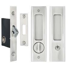 black cabinet door handles bunnings find delf satin chrome sliding door lock set at bunnings