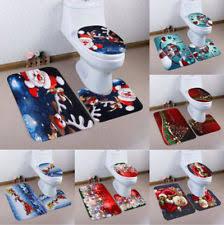 christmas bathroom rugs ebay