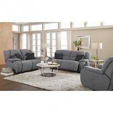 Reclining Living Room Furniture Sets by Living Room Deluxe Destin Gray Microfiber Reclining Sofa Sets By