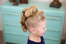 Simple Girls Hairstyles by Flower Bun Hawk Hairstyles For Dance Cute Girls Hairstyles